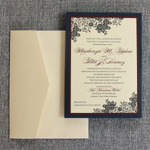 Lace Floral Invitation