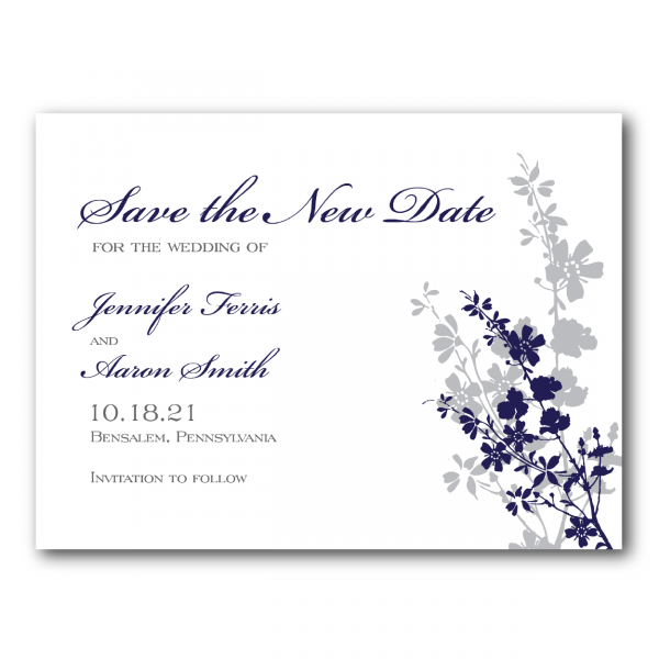 purple floral change the date cards