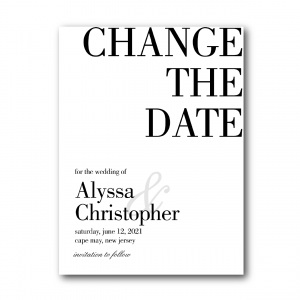 modern typography change the date