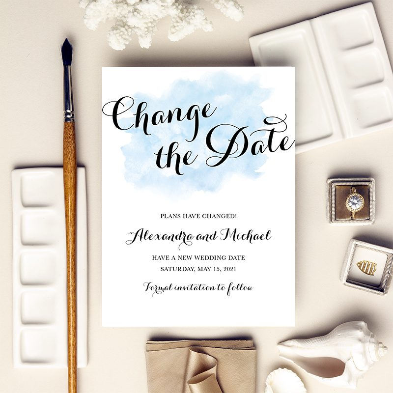 Blue change the date design