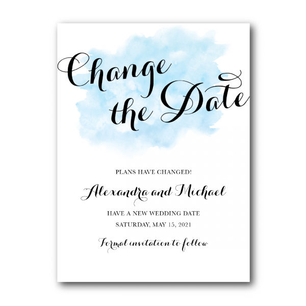 Blue Watercolor Wash - Change the Date