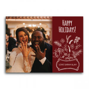 holiday bouquet photo card
