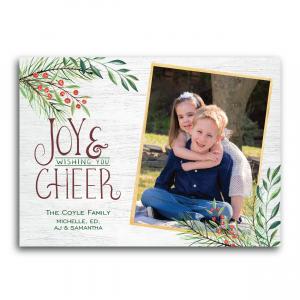Joy and Cheer Photo Holiday Card
