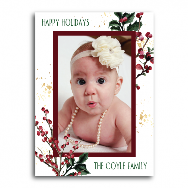 Merry Berries Photo Holiday Card