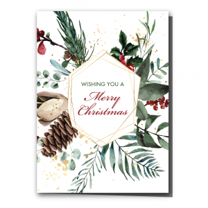 Merry Berries Folded Holiday Card